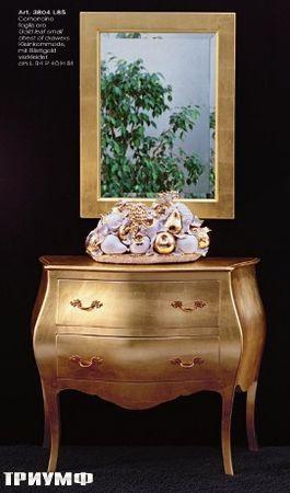 Итальянская мебель Tonin casa - комод барочный золотой