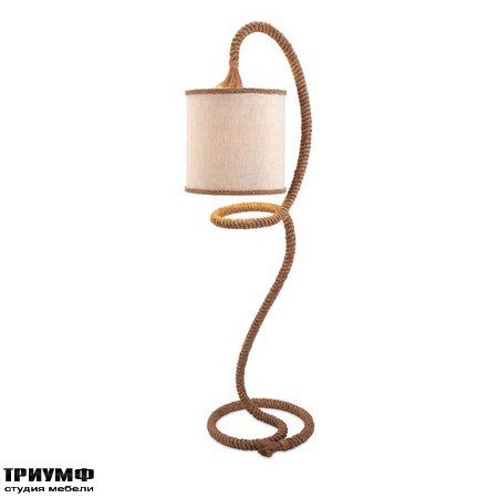 Американская мебель Imax - Binnacle Rope Floor Lamp