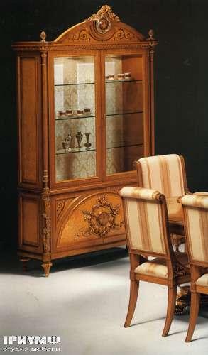 Итальянская мебель Citterio Fratelli - Витрина Genevra с короной