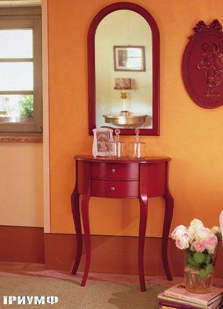Итальянская мебель Tonin casa - консоль в отделке красное дерево