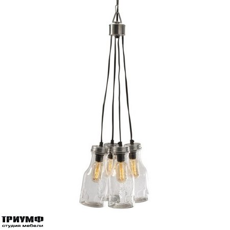 Американская мебель Imax - Cormack Glass Bottle Cluster Pendant Light