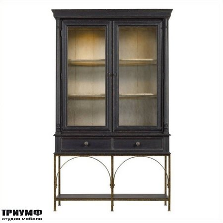 Американская мебель Stanley - Arrondissement Salon Cercle Cabinet in Rustic Charcoal