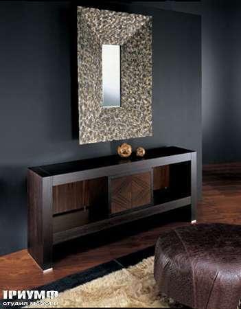 Итальянская мебель Smania - Комод открытый Eclectic Uno из венге с дверцей в палисандре