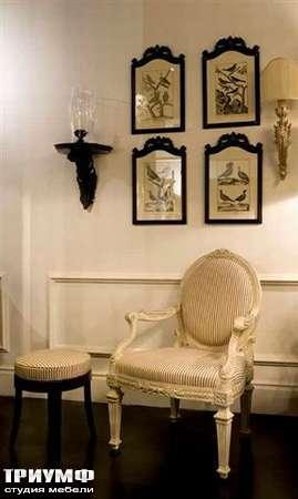 Итальянская мебель Chelini - Полукресло в полоску