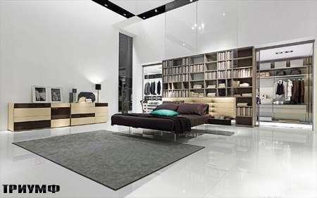 Итальянская мебель Presotto - кровать Wing на прозрачном основании