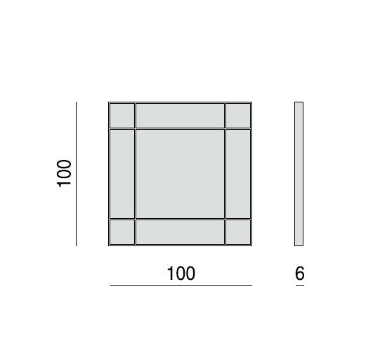 Зеркало Four Seasons Quadrato 100