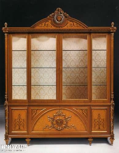 Итальянская мебель Citterio Fratelli - Витрина Genevra 4 дверная, с инкрустацией