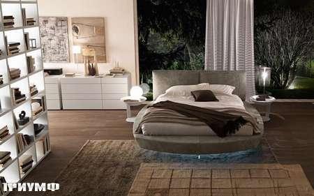Итальянская мебель Presotto - кровать Zero круглая подвесная