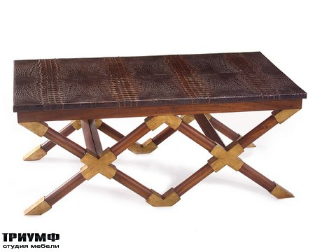 Американская мебель John Richard - Crocodile Top Cocktail Table
