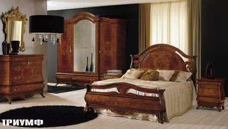Итальянская мебель Grilli - Кровать с инкрустированным изголовьем