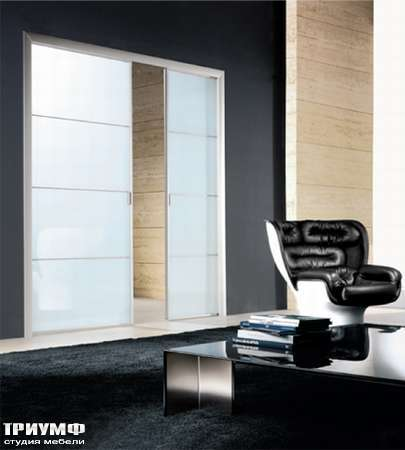 Итальянская мебель Longhi - Дверь раздвижная Spark, стекло