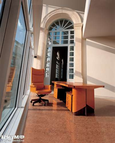 Итальянская мебель Mascheroni - Рабочее место Planet – письменный стол и кресло