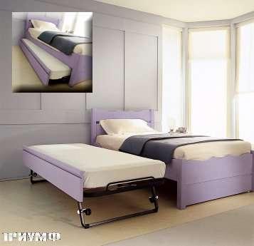 Итальянская мебель De Baggis - Кровать с выдвижным доп. спальным местом 20-582