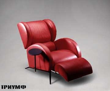 Итальянская мебель Rossi di albizzate - кресло с поддержкой ног zeppelin