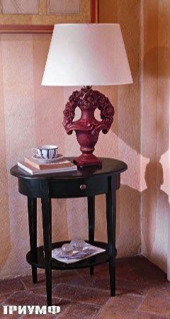 Круглый столик с ящиком