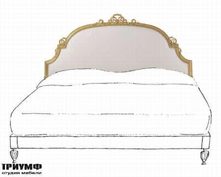 Итальянская мебель Chelini - Изголовье кровати, строгая классика арт.442