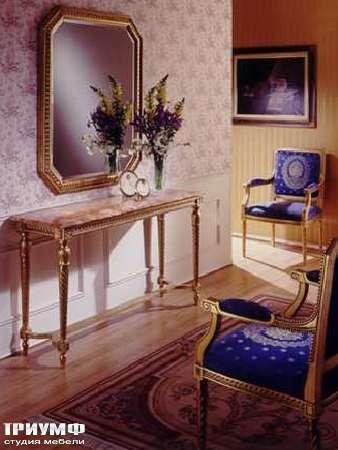 Итальянская мебель Ezio Bellotti - Консоль в золотой отделке