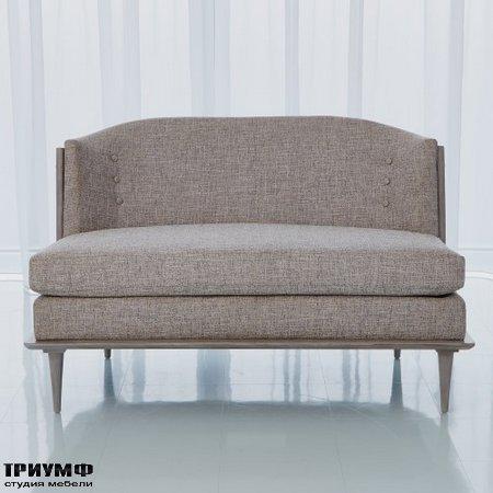 Американская мебель Globalviews - X Back Loveseat Erwin Fog