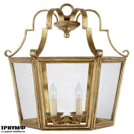 Американская мебель Ralph Lauren Home - FRANCOISE SCONCE IN GILDED IRON WITH CLEAR GLASS
