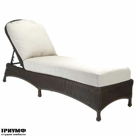 Американская мебель Summerclassics - Classic Wicker Chaise Lounge
