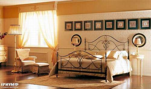Итальянская мебель Giusti Portos - Кованая кровать Alicante