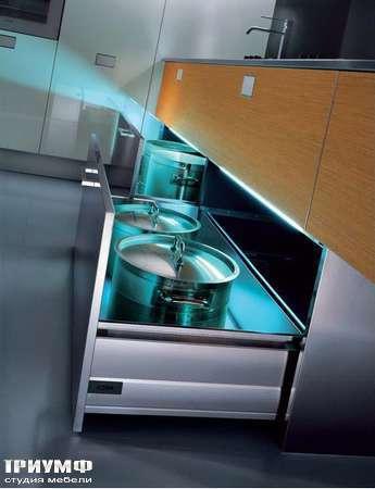 Итальянские кухни Pedini - Кухни Outline система хранения в ящике