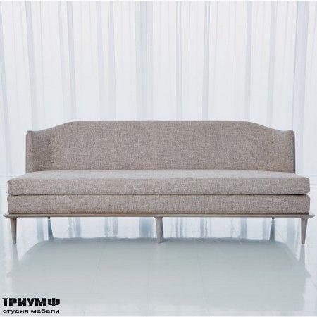Американская мебель Globalviews - X Back Sofa Erwin Fog