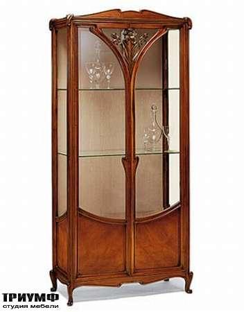 Итальянская мебель Medea - Витрина с цветочной резьбой, арт деко