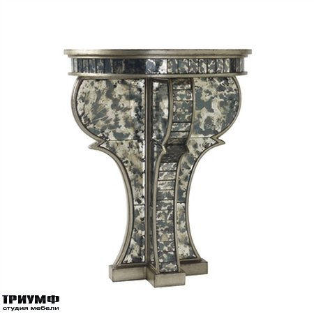 Американская мебель Maitland-Smith - Aged Silver Leaf Wall Bracket with Antique Mirror Glass