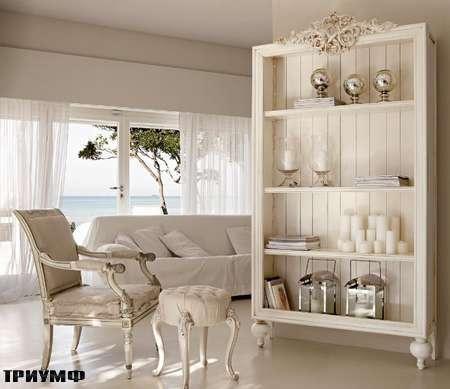 Итальянская мебель Volpi - стеллаж Romeo и пуф Capri
