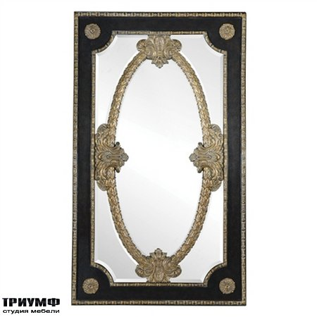 Американская мебель Maitland-Smith - Ambassador Leather Inlay Floor Mirror