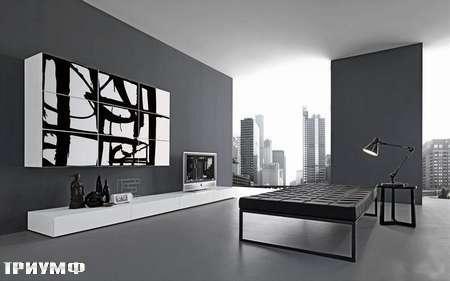 Итальянская мебель Presotto - Стенка Layout с рисунком