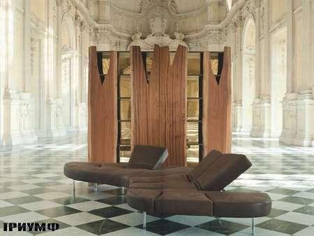 Итальянская мебель Edra - стенка и диван Flap