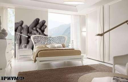 Итальянская мебель Grilli - Кровать с сетчатым изголовьем
