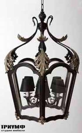 Итальянская мебель Chelini - Люстра, в стиле фонарь, дерево, стекло