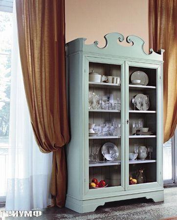 Итальянская мебель Tonin casa - стеллаж из дерева с витражами