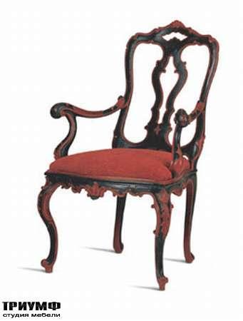 Итальянская мебель Chelini - Стул винтажный красно-черный