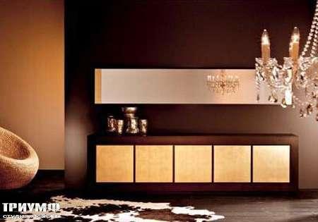 Итальянская мебель Rattan Wood - Комод Shiny, зеркало Double