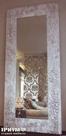 Итальянская мебель Rugiano - Зеркало в серебряной раме