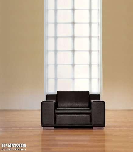 Итальянская мебель Mascheroni - Кресло Kube натуральная кожа