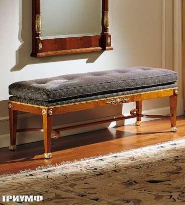 Итальянская мебель Colombo Mobili - Банкетка в имперском стиле арт.354 кол. Salieri