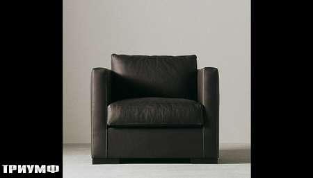 Итальянская мебель Meridiani - кресло Belmondo в коже
