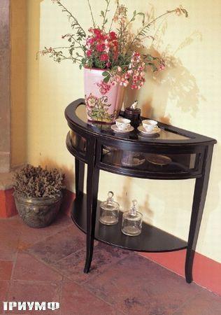 Итальянская мебель Tonin casa - столик закругленный со стеклом