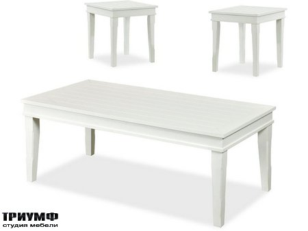 Американская мебель Klaussner - Manchester White 3PAK Tables