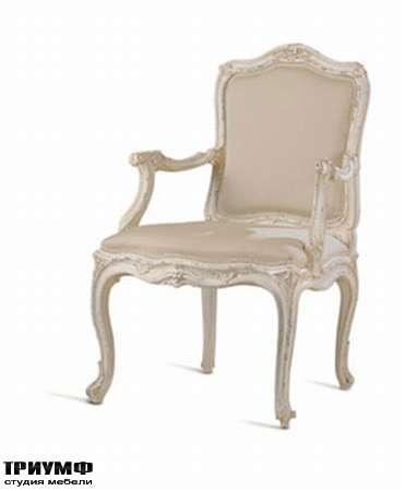 Итальянская мебель Chelini - Полукресло барочное в коже