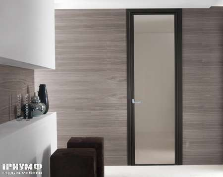 Итальянская мебель Longhi - Дверь распашная Cristal, дерево, стекло