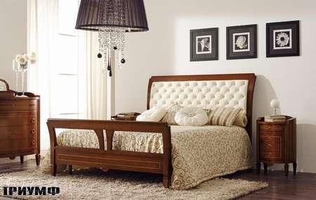Итальянская мебель Grilli - Кровать с простеганным изголовьем