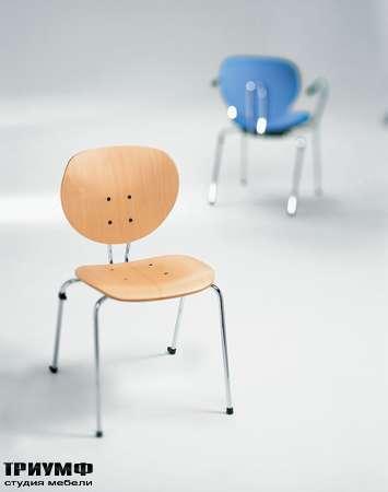 Итальянская мебель Frezza - Стул из металла и дерева, коллекция Alpha