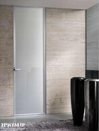 Итальянская мебель Longhi - Дверь распашная Cristal, аллюминий