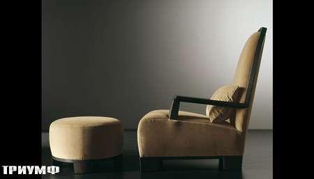 Итальянская мебель Meridiani - кресло Garbo с пуфом
